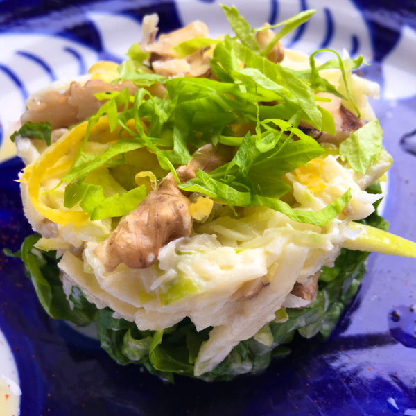 a contemporary Waldorf Salad