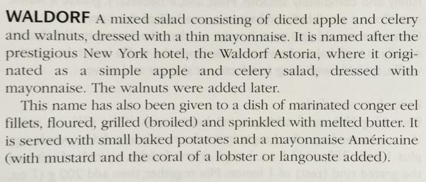 Larousse Gastronomique Waldorf Salad